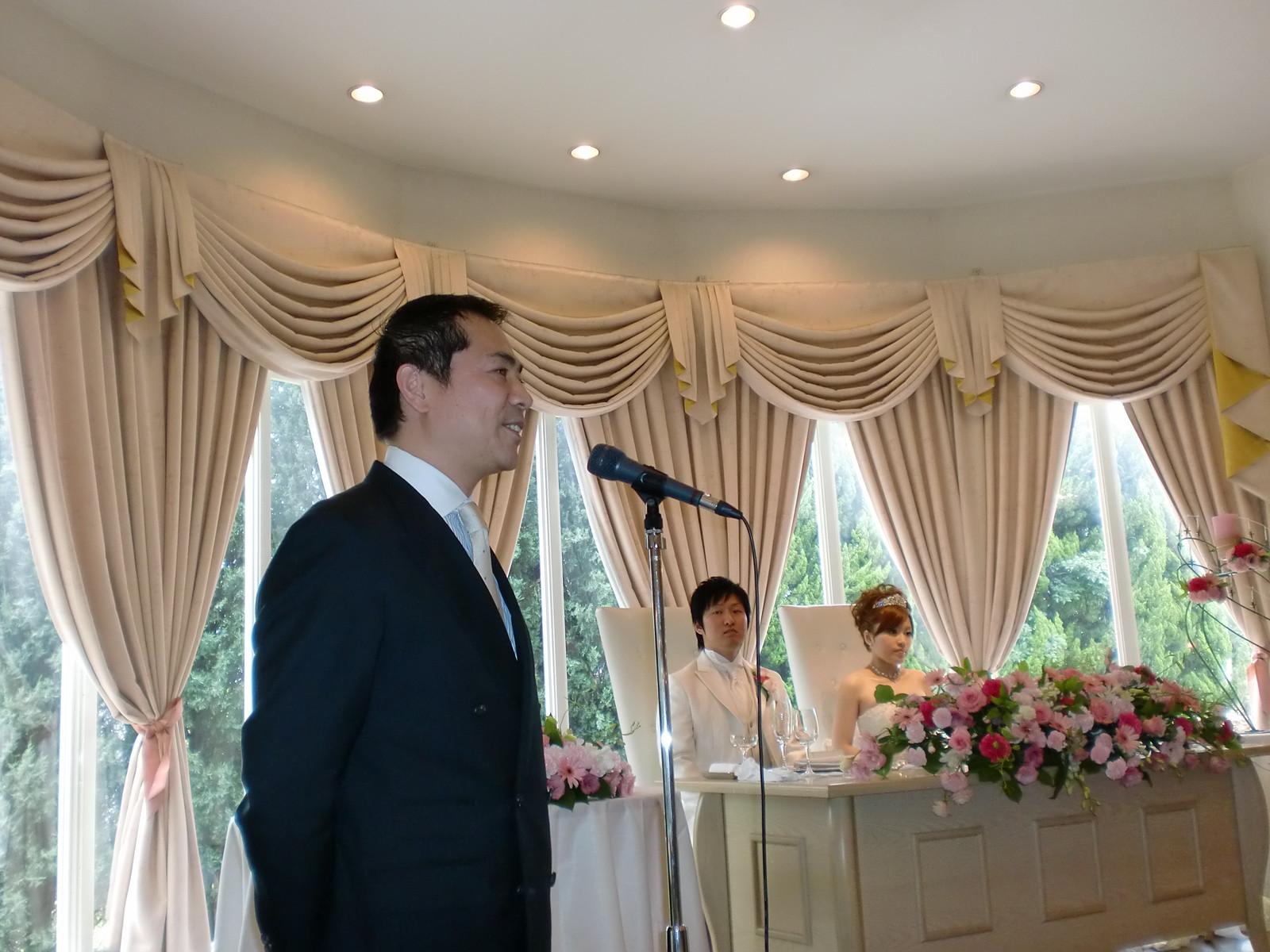 昨日は井上恭平さんの結婚式に参加しました。
